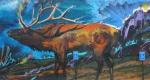 Gallenson's elk mural far rightpanel