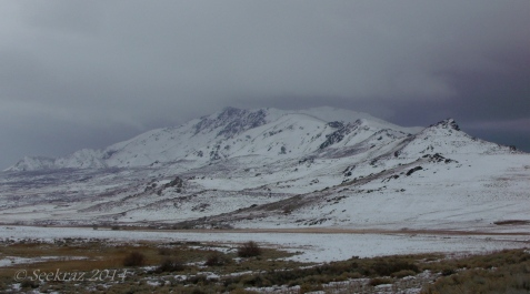 Frary Peak, from the northeast side of Antelope Island.