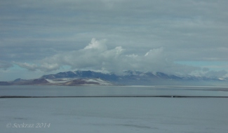 Fremont Island north of the Antelope Island Causeway.