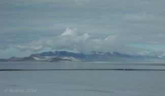 Fremont Island north of the Antelope Island Causeway.