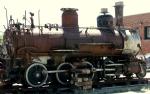 Antique narrow-gauge trainengine