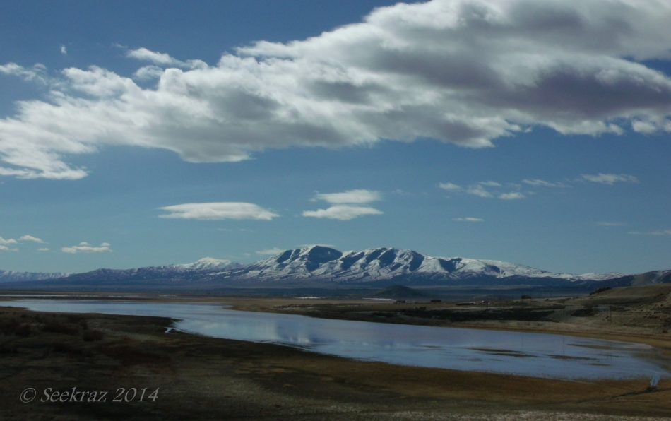 Rush Lake and Stansbury Mountains under Clouds