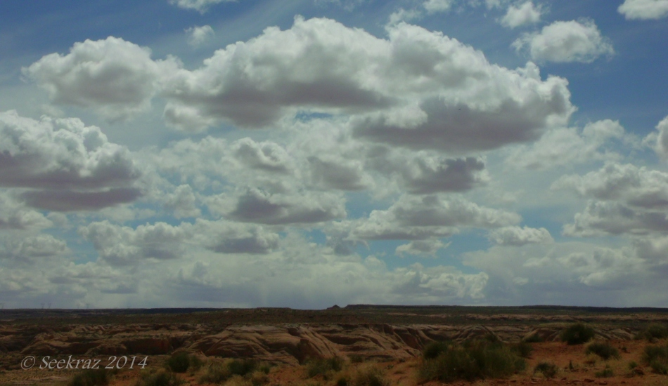 Desert clouds south of Page Arizona