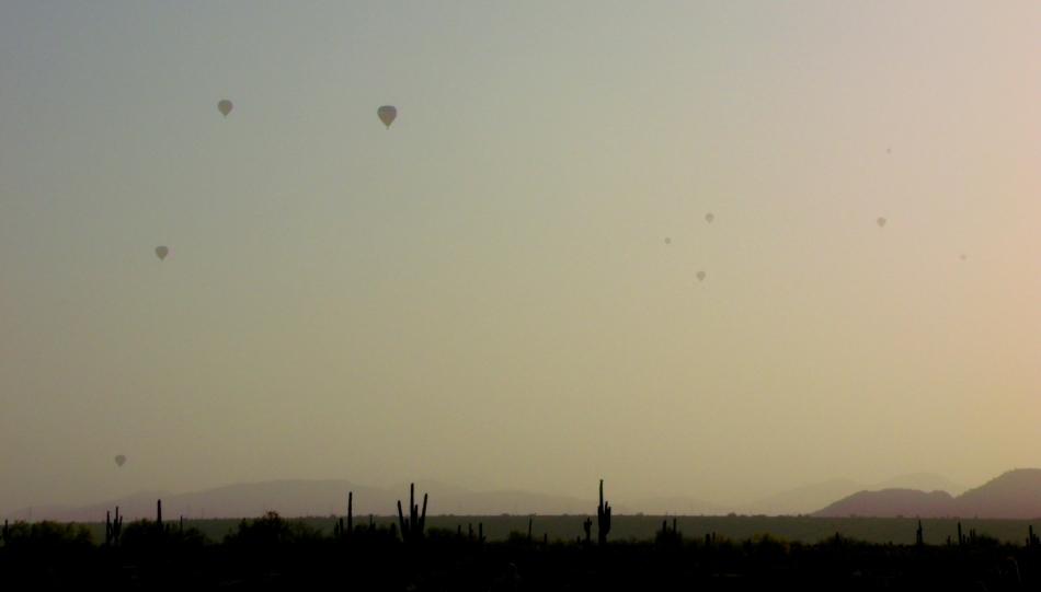 desert morning rising