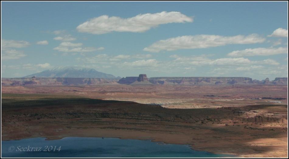 desert shadow at Lake Powell