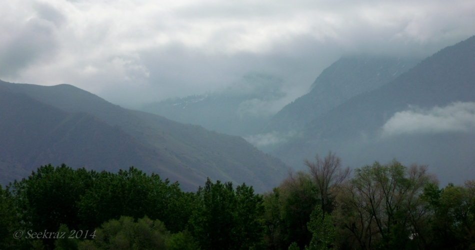 Low clouds over Wasatch Mountains 3