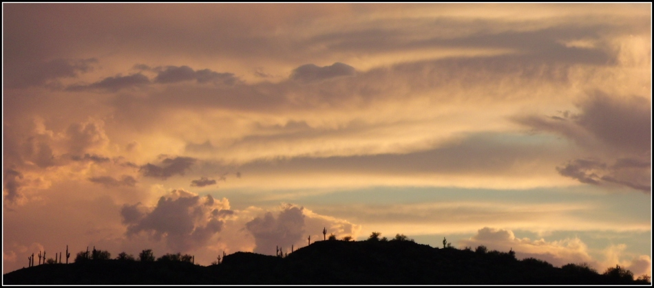North Phoenix, Desert Hills sunset, 7-7-14