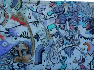 Hair Pollution mural panel 4