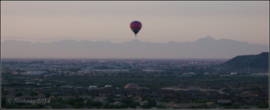 encouragement - hot air balloon rising