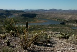 South view from Indian Mesa ruins overlooking Agua Fria River inlet to LakePleasant