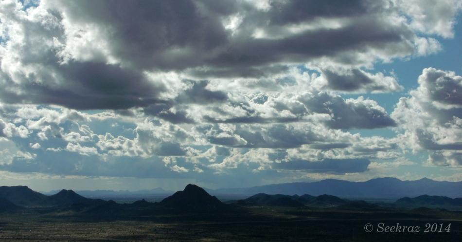 Desert Clouds over Desert Hills