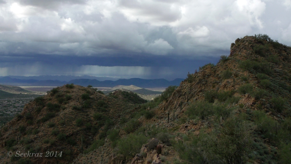Distant rain over Desert Hills