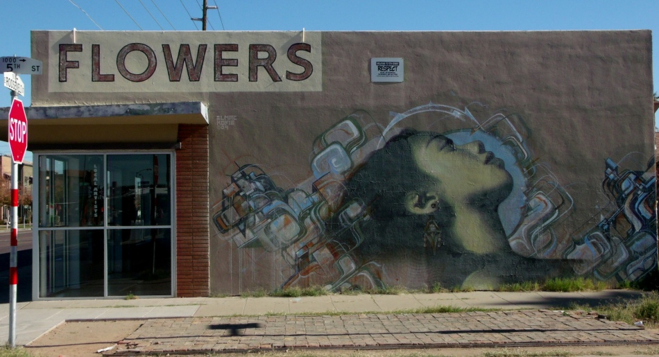 Flowers mural 5th St and Roosevelt