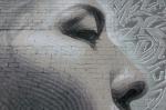 El Mac new mural of Indigenous Woman close-up eyes andnose