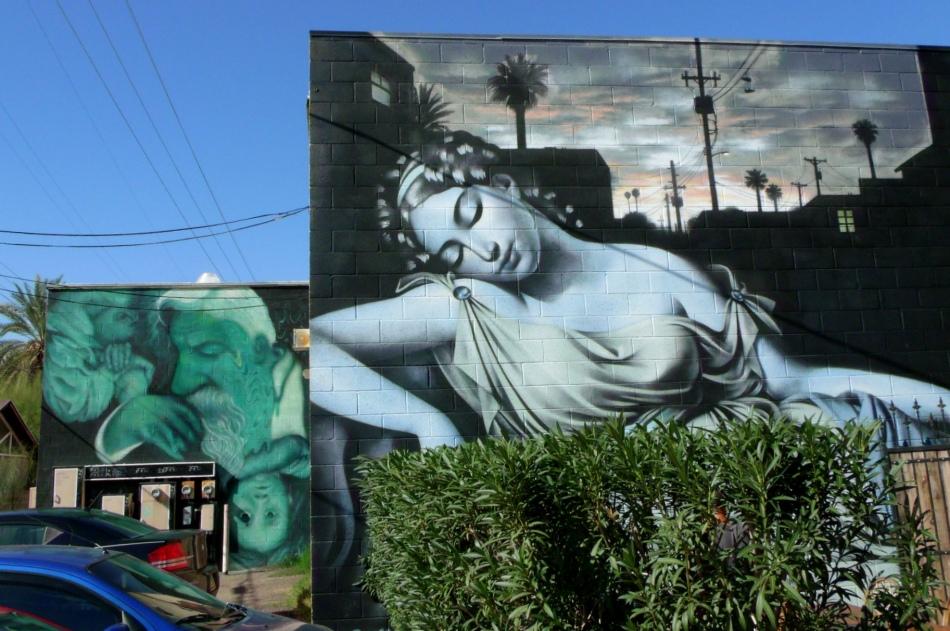 Phoenix Goddess mural by El Mac 1
