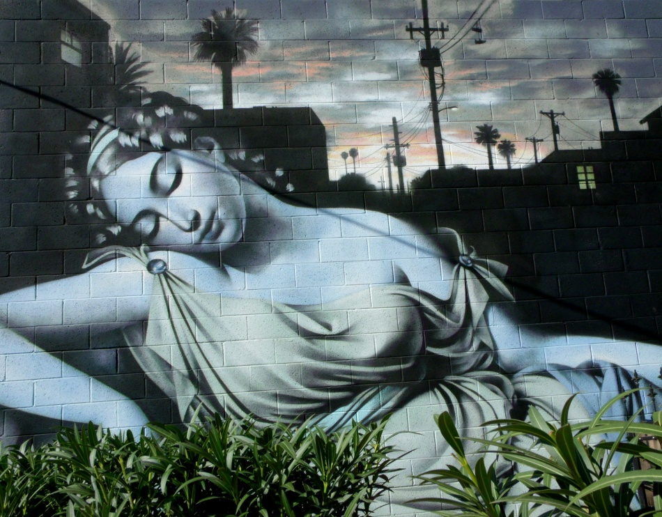 Phoenix Goddess mural by El Mac 2