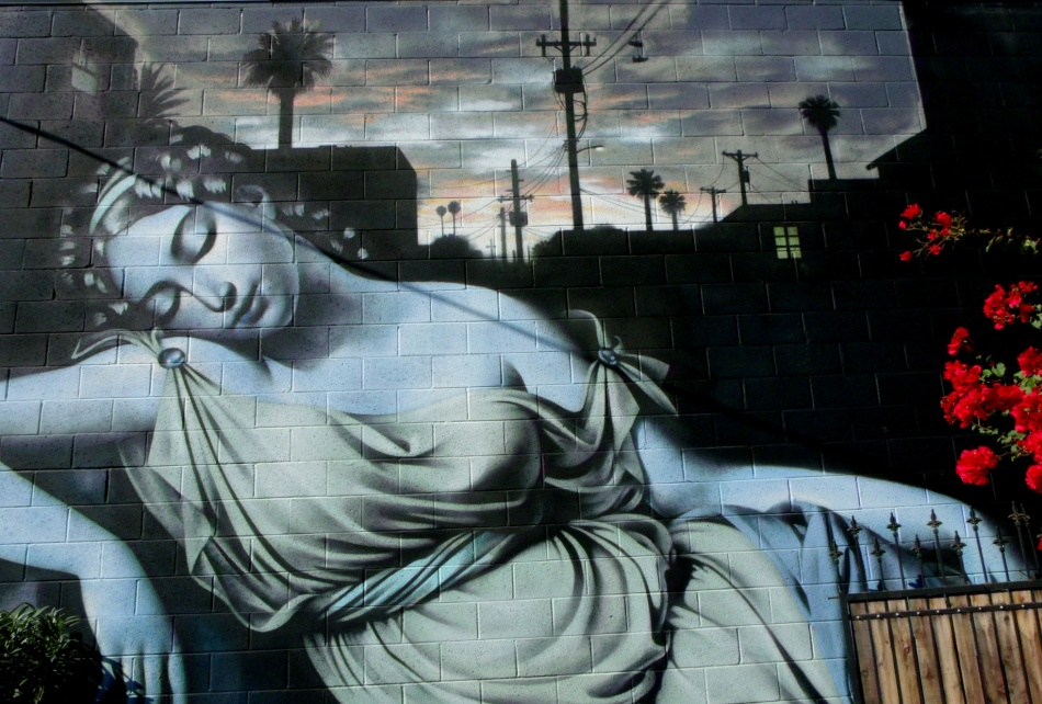 Phoenix Goddess mural by El Mac last