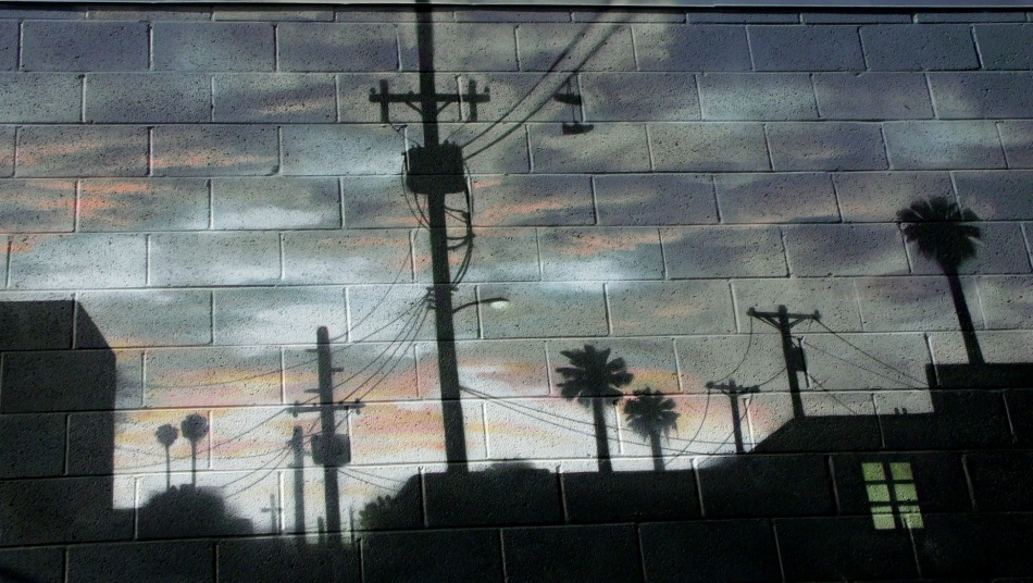 Phoenix Goddess city skyline shadows by El Mac