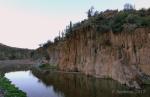 Agua Fria River stonewall