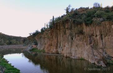 Agua Fria River stone wall