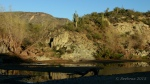 Agua Fria River with hillside andreflection