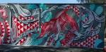 Knitting mermaid mural righthalf