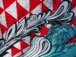 Mermaid mural accentwork