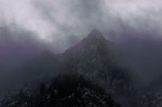 Clouds on the mountain-tops in Little CottonwoodCanyon