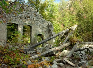 Columbus Consolidated power plant ruins in Little Cottonwood Canyon, September 2012