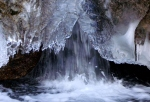 Ice tube in Little Cottonwood Canyonstream