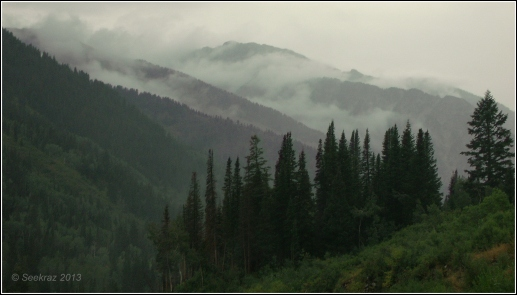 Low clouds in Little Cottonwood Canyon
