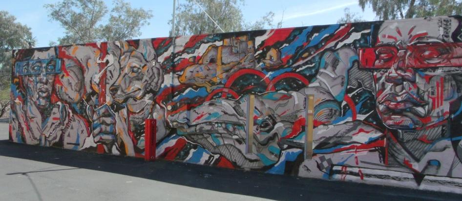Pacific Islander/Native American mural complete