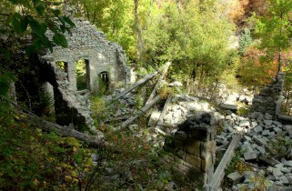 Power plant ruins in Little Cottonwood Canyon, September 2012