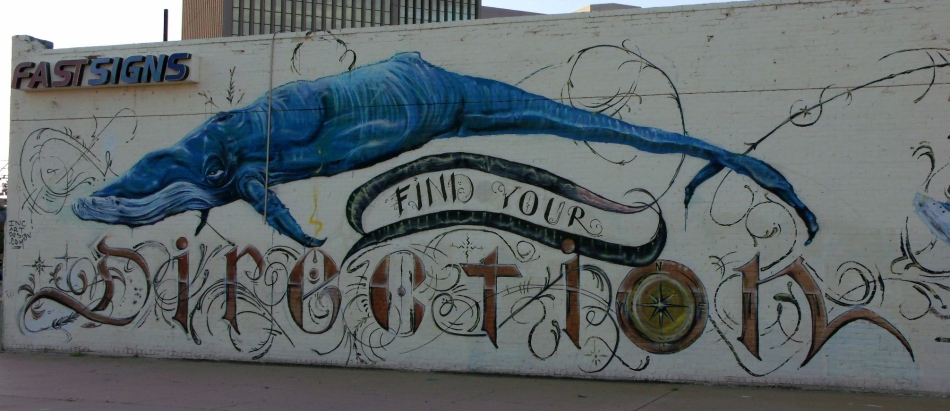 Find Your Direction mural focused shot