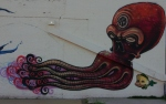 Squid and fish in Find Your Directionmural