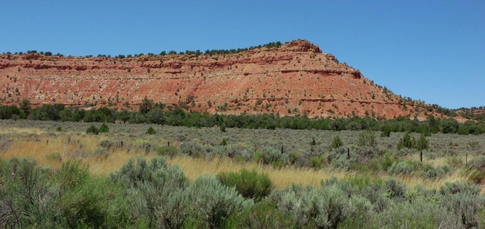 A red mesa south of Kanab, Utah