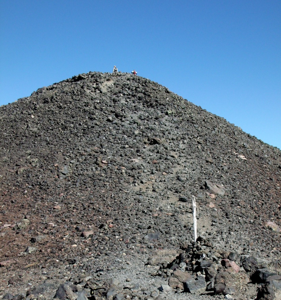The final ascent to summit of Humphreys Peak
