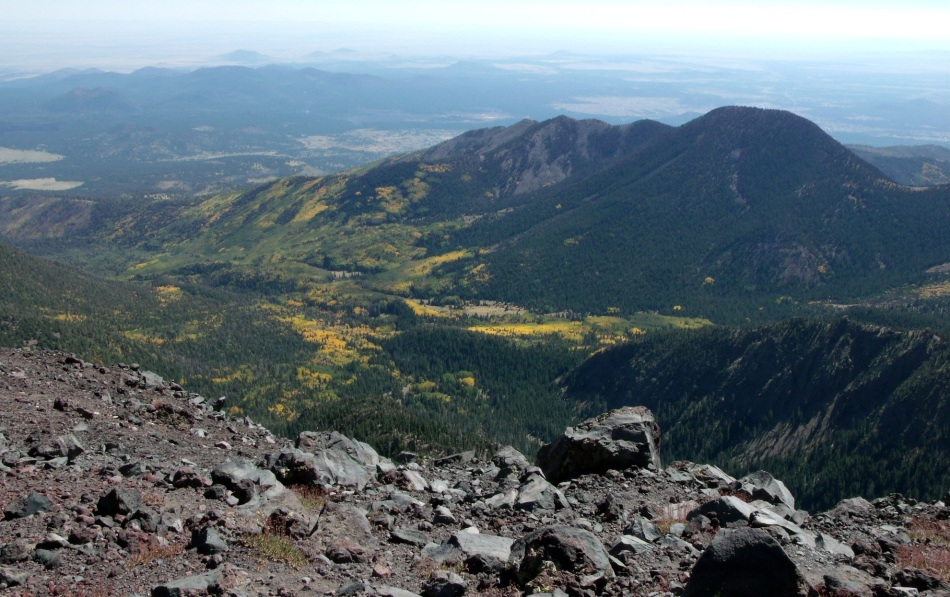 Looking east before making the final ascent to Humphreys Peak summit