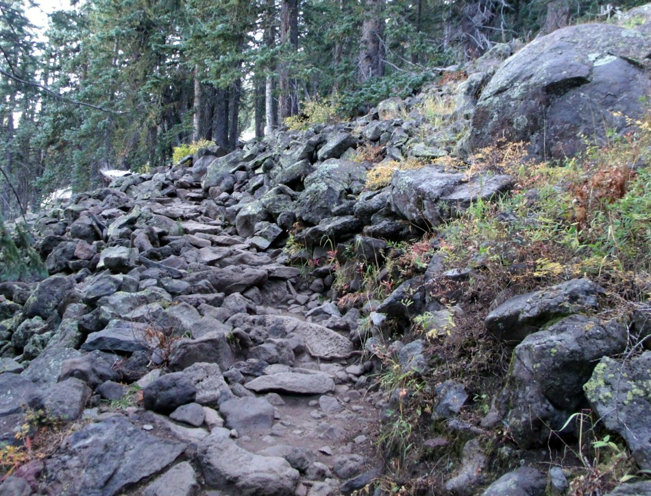Lava trail to Humphreys Peak