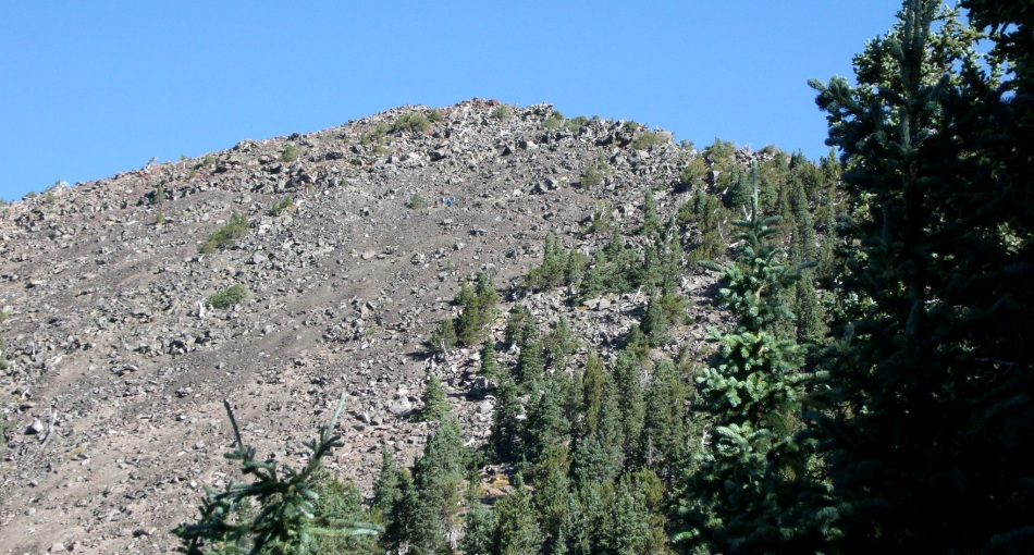 Trail to Humphreys Peak, with spot of blue