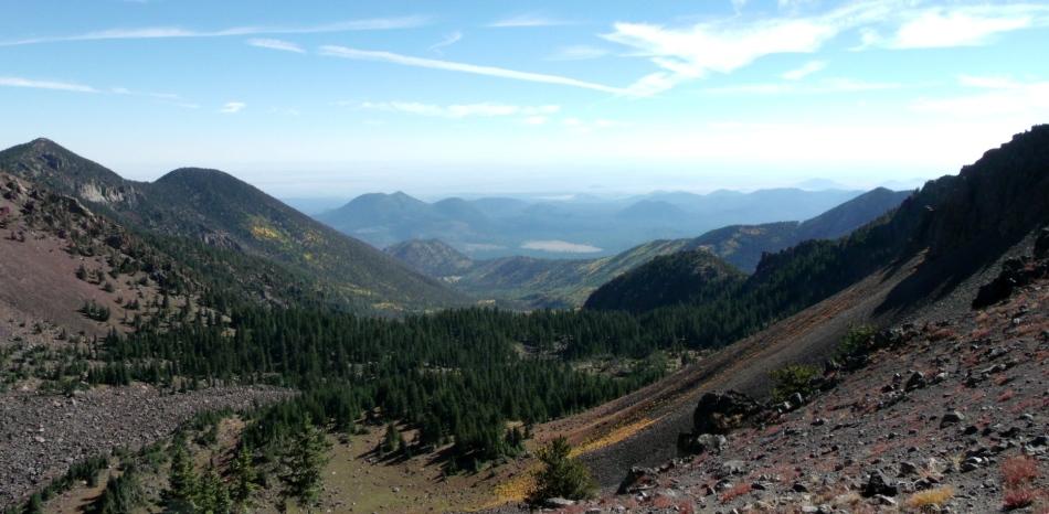 Trail to Humphreys Peak panorama