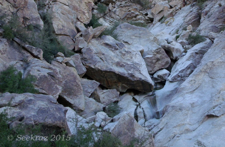 A first white tank in Ford Canyon of White Tank Mountains