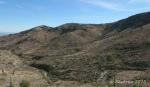 Desert waterway andhillside