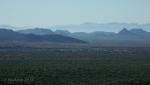 Misted desert ridges