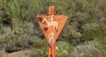 Old-school trail marker