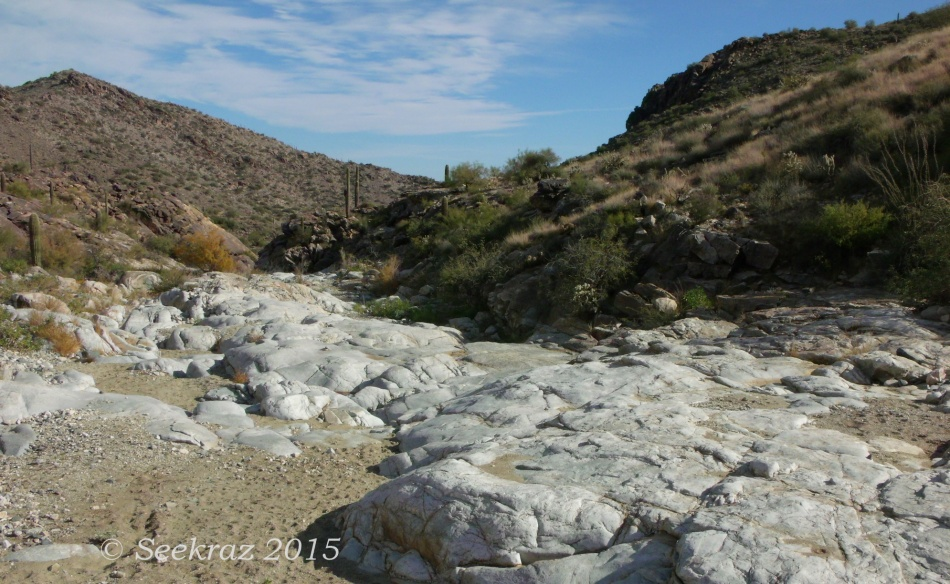 White Granite of Willow Creek waterway in White Tank Mountains