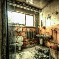 Abandoned military barracks....