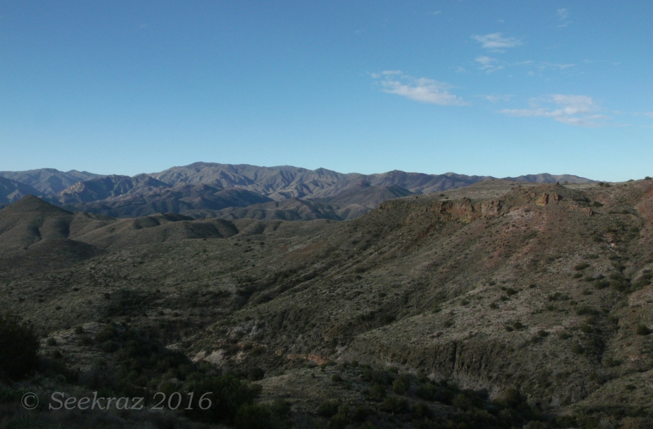Bradshaw Mountain panorama viewed from Drinking Snake segment of Black Canyon Trail