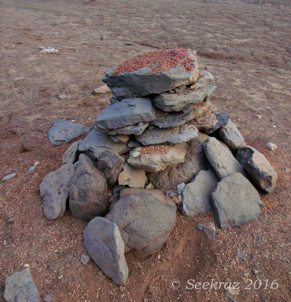 Cairn along Drinking Snake segment of Black Canyon Trail