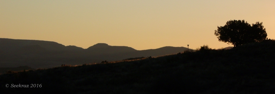 Just before sunrise on the Black Canyon Trail, Antelope Creek segment